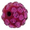 Round Pave Bead with 1.2mm hole, Alora Crystals Fuchsia 6 mm