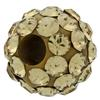 Round Pave Bead with 1.2mm hole, Alora Crystals Light Colorado Topaz 6 mm