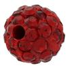 Round Pave Bead with 1.2mm hole, Alora Crystals Light Siam 6 mm