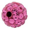 Round Pave Bead with 1.2mm hole, Alora Crystals Rose 6 mm