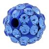 Round Pave Bead with 1.2mm hole, Alora Crystals Sapphire 6 mm