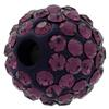 Round Pave Bead with 2.0mm hole, Alora Crystals Amethyst 8 mm
