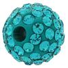 Round Pave Bead with 1.2mm hole, Alora Crystals Blue Zircon 6 mm