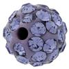 Round Pave Bead with 1.2mm hole, Alora Crystals Violet  6 mm