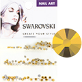 Swarovski Crystal Aurum Round Flat Backs (SS5, SS7, & SS9)