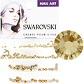 Swarovski Light Colorado Topaz Round Flat Backs (SS3, SS5, SS7, & SS9)