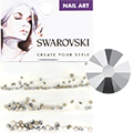 Swarovski Crystal Light Chrome Round Flat Backs (SS5, SS7, & SS9)