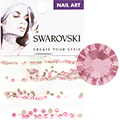 Swarovski Light Rose Round Flat Backs (SS3, SS5, SS7, & SS9)