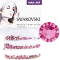 Swarovski Rose Round Flat Backs (SS5, SS7, & SS9)