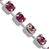 Swarovski 18pp Rhinestone Chain Pink Mix on Silver