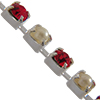 Swarovski 18pp Rhinestone Chain Siam/Crystal Light Siam/Pearl Silver