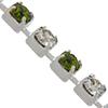 Swarovski 18pp Rhinestone Chain Olivine/Crystal on Silver