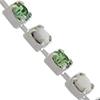 Swarovski 18pp Rhinestone Chain Peridot/Chalkwhite Silver