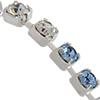 Swarovski Rhinestone Chain Light Sapphire / Crystal / Silver PP18