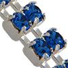 Swarovski Double Row Rhinestone Chain pp24 Sapphire/Sterling Silver