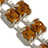 Swarovski Double Row Rhinestone Chain pp24 Topaz/Sterling Silver