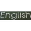 Rhinestone Sticker - English