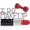 I Do Makeup Rhinestone Pin