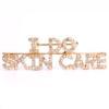 I Do Skin Care (Crystal/Gold) Rhinestone Pin