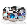 Rhinestone Rondelles 6mm Crystal AB/Silver