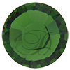 Swarovski Rose Pins 53301 ss10 Fern Green