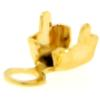 Chain end for PP18 in Gold with round crimp end