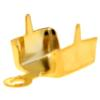 Chain end for PP32 in Gold with round crimp end