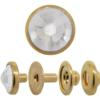 Swarovski 1783/300 4-Part Snaps Crystal/Gold 7mm