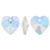 Spark Crystal Heart Shape Faceted Pendant, Crystal AB 14mm