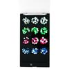 Swarovski Crystals Nail Art Starter Kit - Neon Electric Mix Black 12 tray