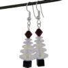 White Christmas Tree Earrings Kit