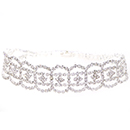 Oval Accent Tennis Bracelet, Crystal/Silver
