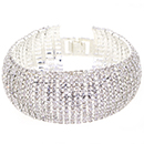 12 Row Tennis Bracelet, Crystal/Silver