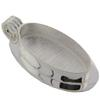 Large Oval with Rectangle Back Pendant, Silver Overlay