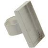DW Rectangle Ring 29x15mm for Embellishing