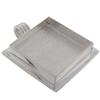 Square Lipped 32.5 x 6.5 mm Pendant, Silver Overlay