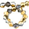 Spark Bicone Beads Aurum Crystal AB 4mm