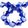 Spark Bicone Beads Cobalt AB 4mm