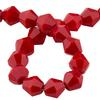 Spark Bicone Beads Cardinal Red 4mm