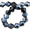 Spark Bicone Beads Jet Blue Hematite 4mm