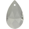 Spark Crystal Pear Shape Faceted Pendant, Crystal 16mm