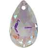 Spark Crystal Pear Shape Faceted Pendant, Crystal AB 22mm