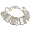 "DW Square 5/8"" Linked Bracelet in Silver"