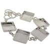 Square Linked Bracelet in Silver