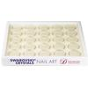 Stackable White Tray with 25 Storage Jars