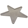 Pendant for Swarovski 72002 Crystal Rocks Washable Star 76 x 80 mm Silver