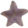 German Starfish Cabochons Light Amethyst Matte 8 mm
