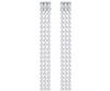 Swarovski Collection Dangling Clear Crystal Cup Chain Earrings