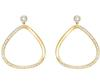 Swarovski Collection Gold Crystal Stud Hoop Earrings