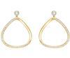Swarovski Collection Gold Crystal Stud Hoop Earrings